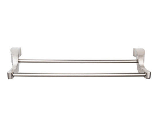 Top Knobs Bath Double Towel Rod Brushed Satin Nickel - Brand:Top Knobs