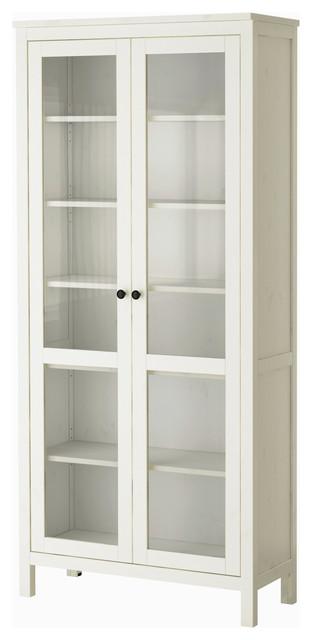 Hemnes Glass Door Cabinet, White Stain - Modern - Storage Cabinets - by IKEA