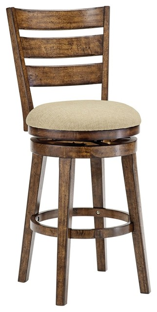 Country - Cottage Hillsdale Lenox Chestnut Swivel Counter Stool traditional-bar-stools-and-counter-stools