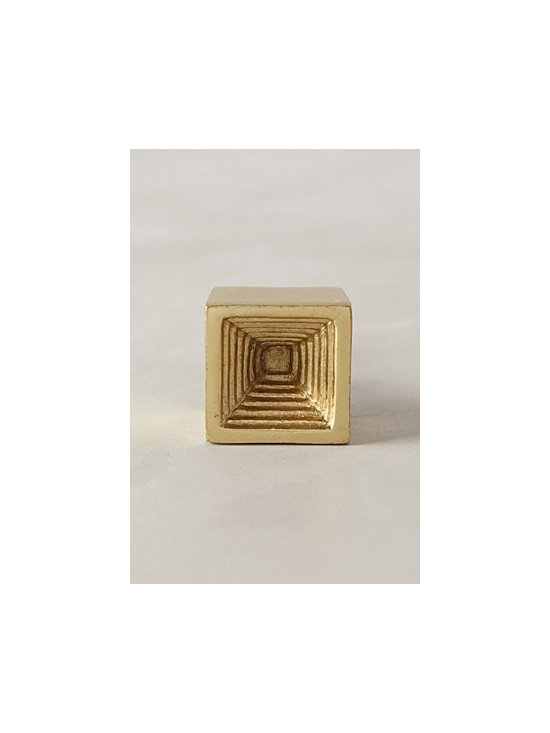 """Anthropologie - Aeolian Ripple Knob - Tighten with care. No additional hardware required. Aluminum, iron. Square: 1.5"""" square. 1.5"""" projection. Circle: 1.5"""" diameter. 1.5"""" projection. 1.75"""" bolt can be trimmed to size. Imported"""