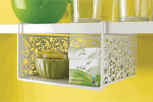 Vinea Undershelf Basket, White modern-pantry-and-cabinet-organizers