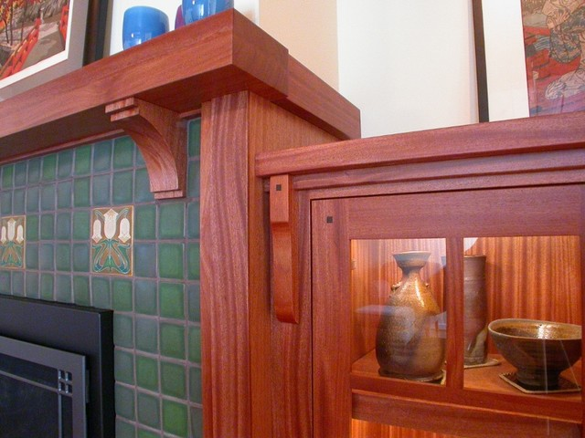 Craftsman fireplace mantel traditional seattle by for Craftsman fireplaces photos