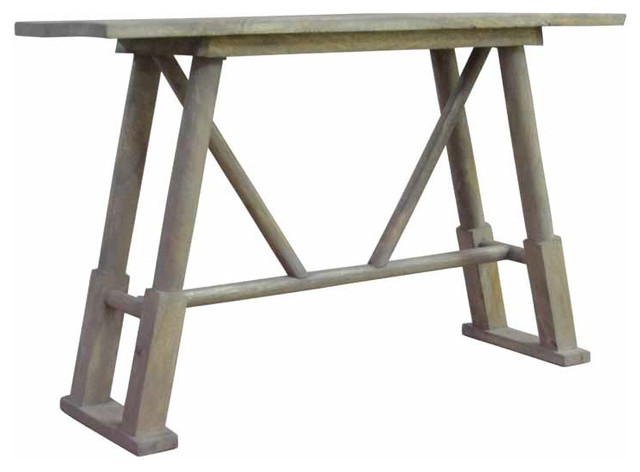 Signature light grey wood console table modern side for Light wood side table
