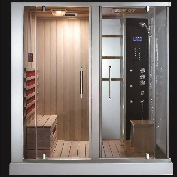 aquapeuticssouthwood steam shower sauna combo modern saunas by