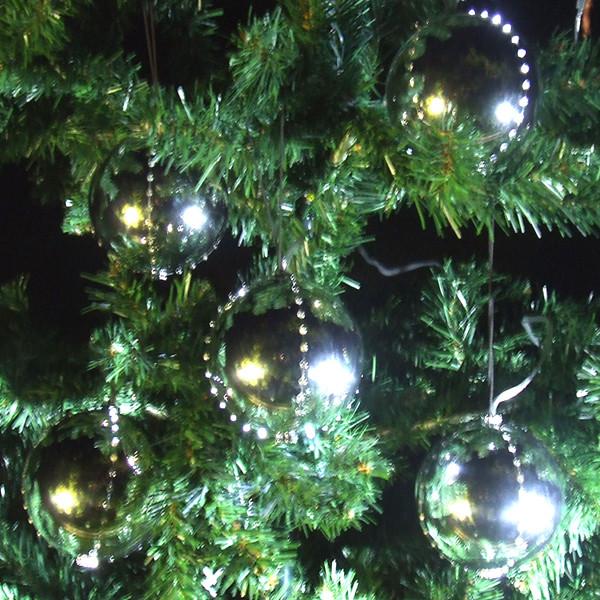 LED Snowfall Ornaments Silver christmas-ornaments