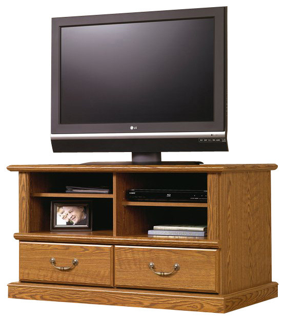 Sauder Orchard Hills TV Stand in Carolina Oak Finish ...