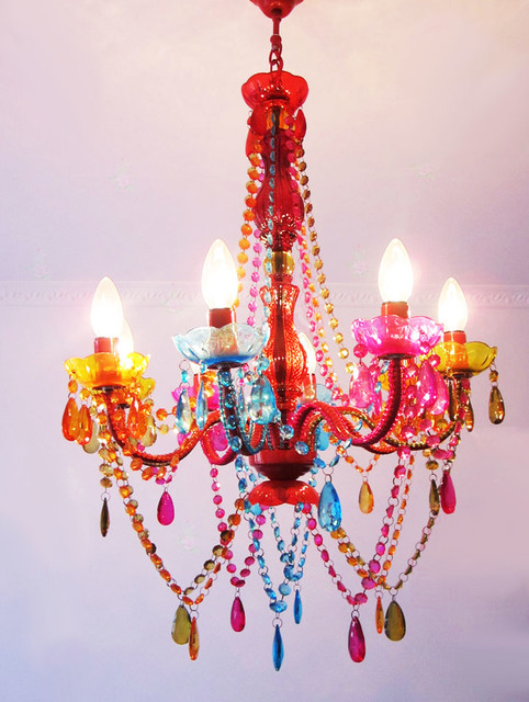 modern colorful chandelier contemporary