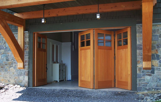Custom side folding garage doors contemporary garage for Garage side door and frame