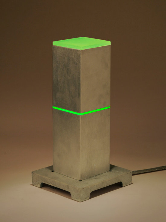 Lightlink Lighting - Midori / Lime Slice Illuminaire - As seen in Natural Home Magazine, an ambient take on the industrial-meets-Asian theme. This vertical rectangular aluminum bar-light glows brilliantly at the center with a softly diffused light on top.