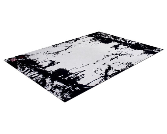 Zen Rug Collection Paint Splatter - Allure Custom Rug Studio. Can be made in any size, color, or shape. Made in Denver