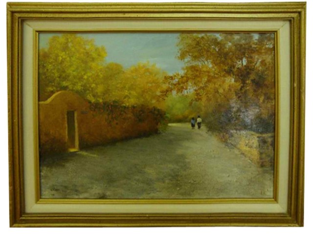 Fall Landscape Oil Painting traditional-artwork