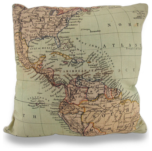 World Map Throw Rug: Reversible Old World Map And Marrakesh Pattern Throw