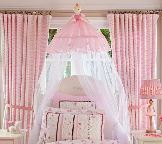 Ballerina Canopy traditional kids bedding
