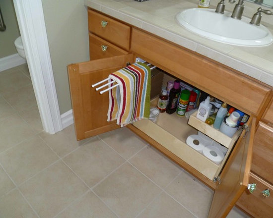 ShelfGenie Pull Out Towel Bar - Add a pull out towel rack to your under-sink cabinets and store your towels out of sight, yet easily at hand when you need one.