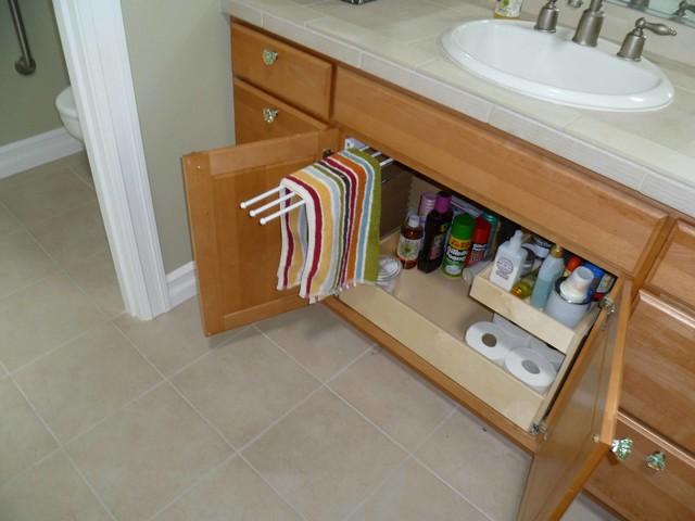 ShelfGenie Pull Out Towel Bar bathroom-cabinets-and-shelves