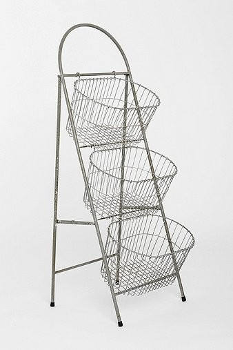 Ladder Storage Basket - Eclectic - Storage And ...