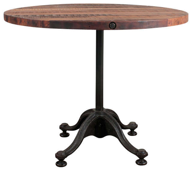 V42 Round Bistro Table Large Eclectic Indoor Pub And