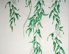 Hand Painted & Stenciled Designs & Murals - weeping willow mural traditional 