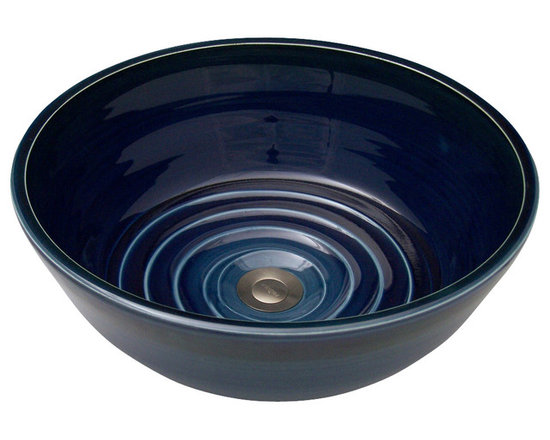 Indikoi Sinks LLC - U-STYLE: Under Mount Sink, Midnight - The U-Style is an artistic approach to the under mount sink.