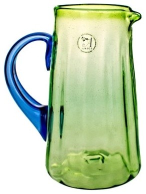 Global Amici Luster Green Glass Pitcher modern-wine-and-bar-tools