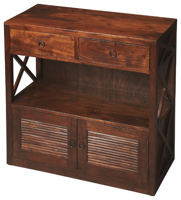 Niles Storage Console Table Rustic Coffee Tables By