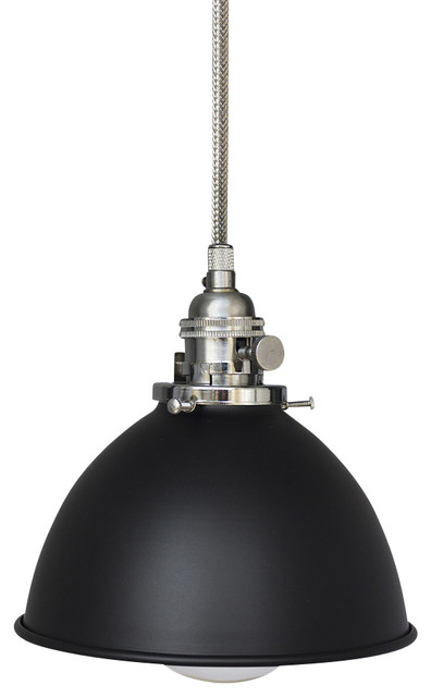 Factory 7 1 16 Black Metal Shade Pendant Light Stainless Steel C