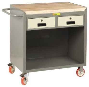 Little Giant Mobile Bench Cabinet with Locking Storage Drawers - Modern - Storage Cabinets - by ...