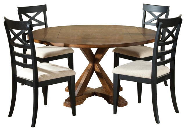 Liberty furniture hearthstone 5 piece 60 inch round drop for Dining room table 60 inch round