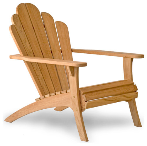bainbridge collection teak adirondack chair contemporary. Black Bedroom Furniture Sets. Home Design Ideas