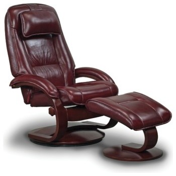 Oslo 52 Top Grain Leather Ergonomic  Recliner and Ottoman modern-armchairs-and-accent-chairs