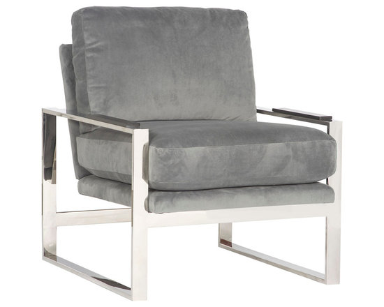 Soho Grand Chair W104-CH - Vanguard Furniture - Conover, NC - Materials: Fabric and Leather