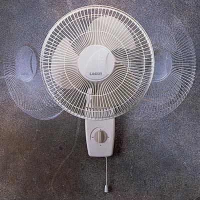 """12"""" Oscillating Wall Mount Fan, 3 Speeds contemporary-home-electronics"""