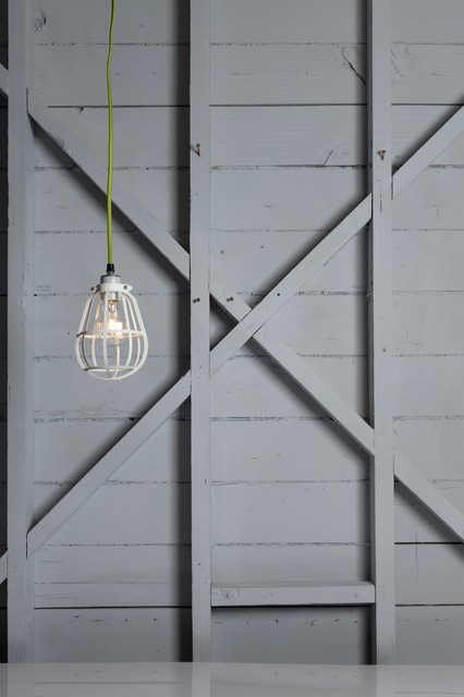 Modern Cage Light - Swag Pendant modern-pendant-lighting