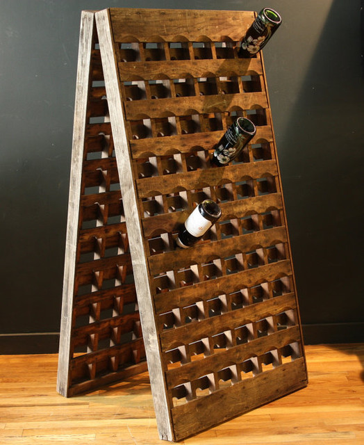 French Riddling Wine Rack 120 Bottles Double Panel By