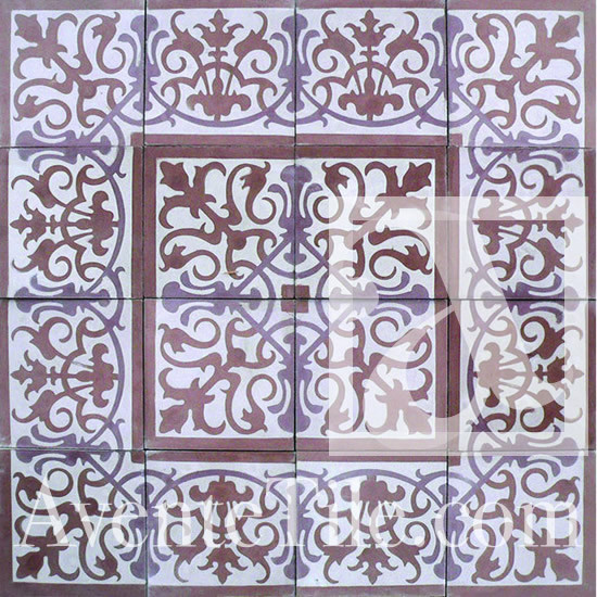 "Traditional San Juan Cement Tile 8"" x 8"" traditional-floor-tiles"