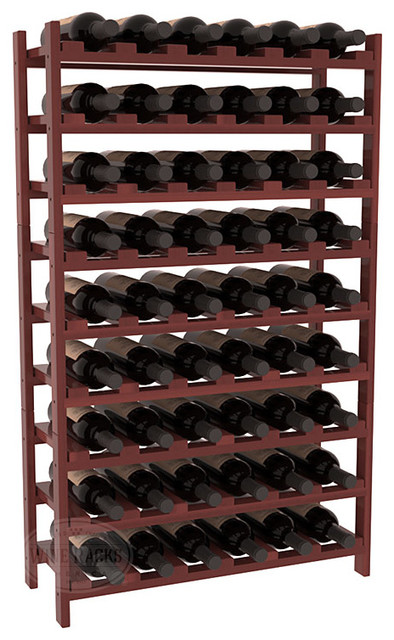 54 Bottle Stackable Wine Rack in Premium Redwood, Cherry Stain + Satin Finish contemporary-wine-racks