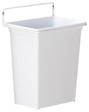 Door Mounted Waste Bin in White - Contemporary - Trash ...