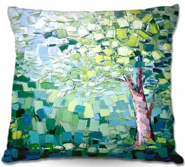 Pillow Woven Poplin from DiaNoche Designs - Breeze contemporary-decorative-pillows