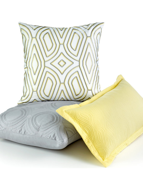 Hotel Collection Lancet Decorative Pillows - Shape up! These Hotel Collection Lancet decorative pillows feature bold & understated geometric patterns that give your space an architectural makeover.
