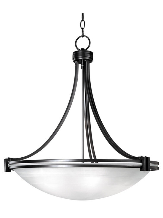 "Possini Euro Design - Possini Euro Deco Bronze 24 3/4"" Wide Pendant Chandelier - From the Deco Bronze Collection this chandelier has a clean and simple design with plenty of appeal. It comes in an oil-rubbed bronze finish and white marbled glass. From the Possini Euro Design lighting collection. Takes five 60 watt bulbs (not included). 24 3/4"" wide. 26"" high. Canopy is 5"" wide. Canopy extends 1"" from the ceiling. Includes 6 feet of chain. Hang weight of 18.5 lbs.  Oil-rubbed bronze finish.  White marbled glass.   Art Deco influenced design.  Takes five 60 watt bulbs (not included).  24 3/4"" wide.  26"" high.   Canopy is 5"" wide.   Canopy extends 1"" from the ceiling.   Includes 6 feet of chain.   Hang weight of 18.5 lbs."