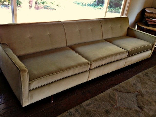 Mid century sofa Modern Living Room seattle by