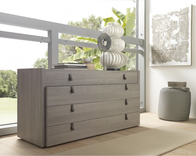 Esprit modern open pore wood veneer grey dresser - Commode de chambre ...