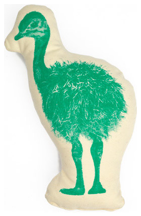 Ostrich Pico eclectic pillows