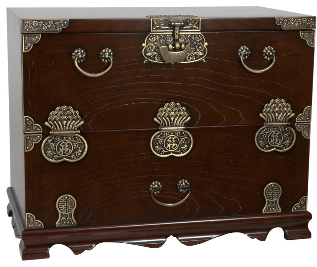 Korean Bandaji Antique Design Blanket Chest - Asian - Accent Chests And Cabinets - by Oriental ...