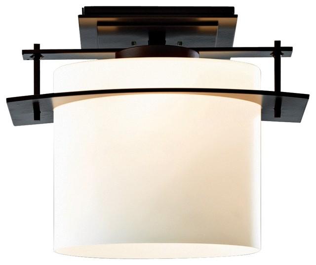 Arts and Crafts - Mission Hubbardton Forge Arc Ellipse Semi-flushmount Ceiling L modern-ceiling-lighting