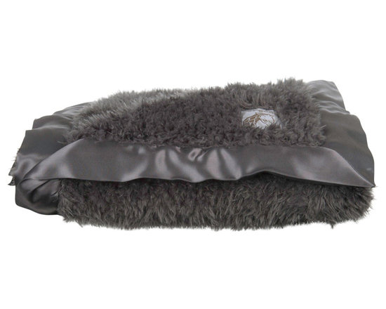 "Little Giraffe - Plush Throw- Charcoal - Bella Plush for Home is a more relaxed, luxurious pile that is equally soft and more chic. Its the perfect statement piece for any home dcor. Layer this warm, inviting accent on the sofa or bed. Measures 45"" x 59""."