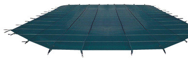 Blue Wave 16 ft x 40 ft 12Yr Mesh Safety Blue - Green traditional-swimming-pools-and-spas