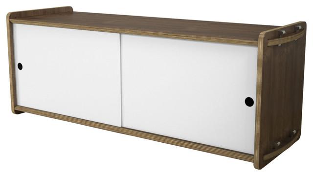 House fish Short Key Module (Walnut), White Doors modern-storage-and ...