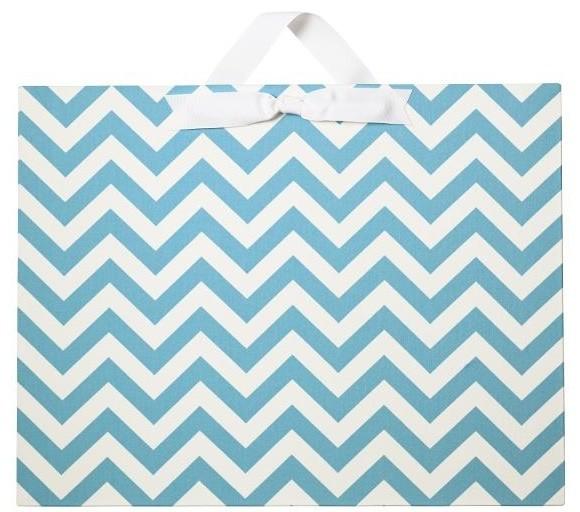 Large Horizontal Chevron Magnet Board traditional-home-decor