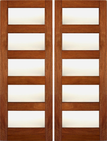 Rb 02 interior wood mahogany contemporary matte glass double door contemporary interior - Wood and glass double entry doors ...